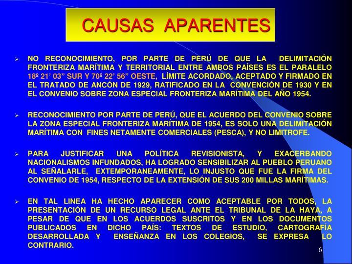 CAUSAS  APARENTES