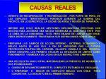 causas reales