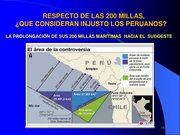 RESPECTO DE LAS 200 MILLAS,