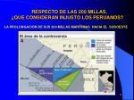 respecto de las 200 millas que consideran injusto los peruanos