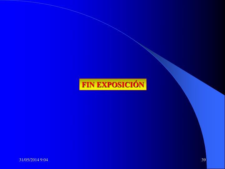 FIN EXPOSICIÓN