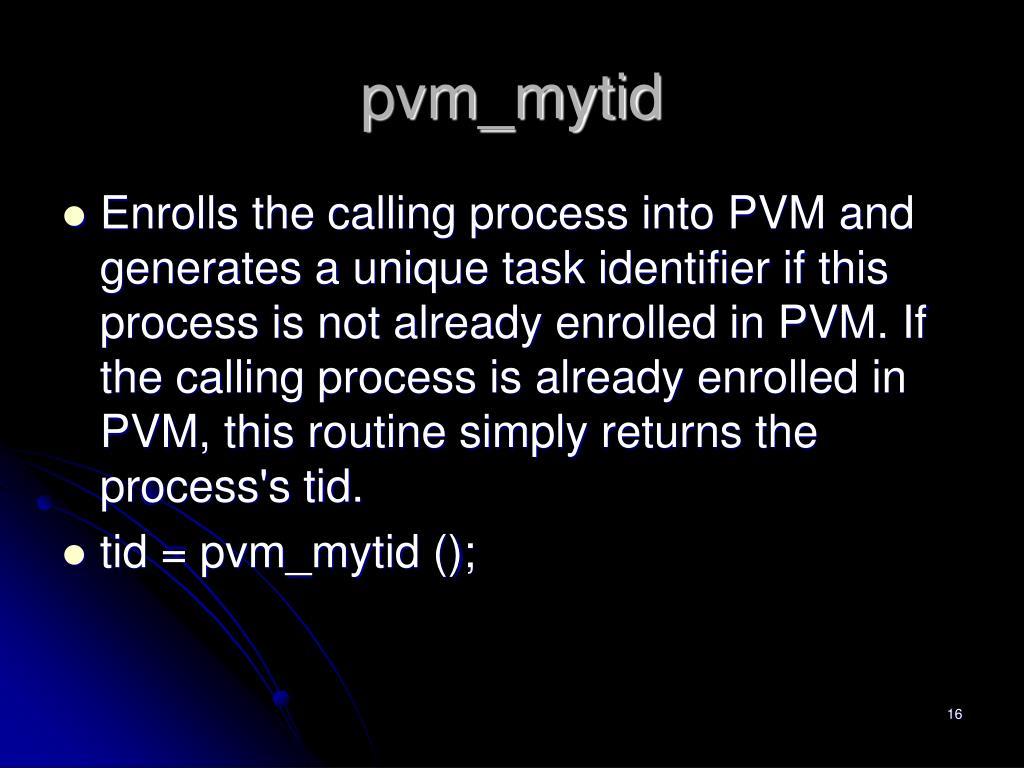 pvm_mytid