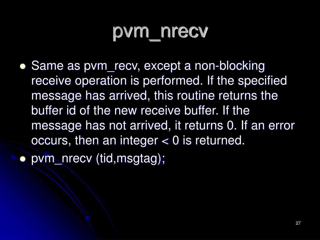 pvm_nrecv