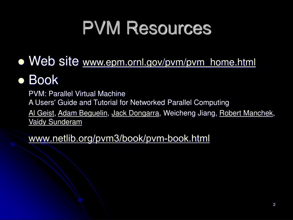 PVM Resources