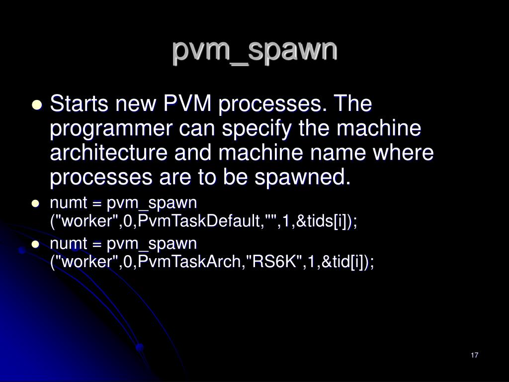 pvm_spawn