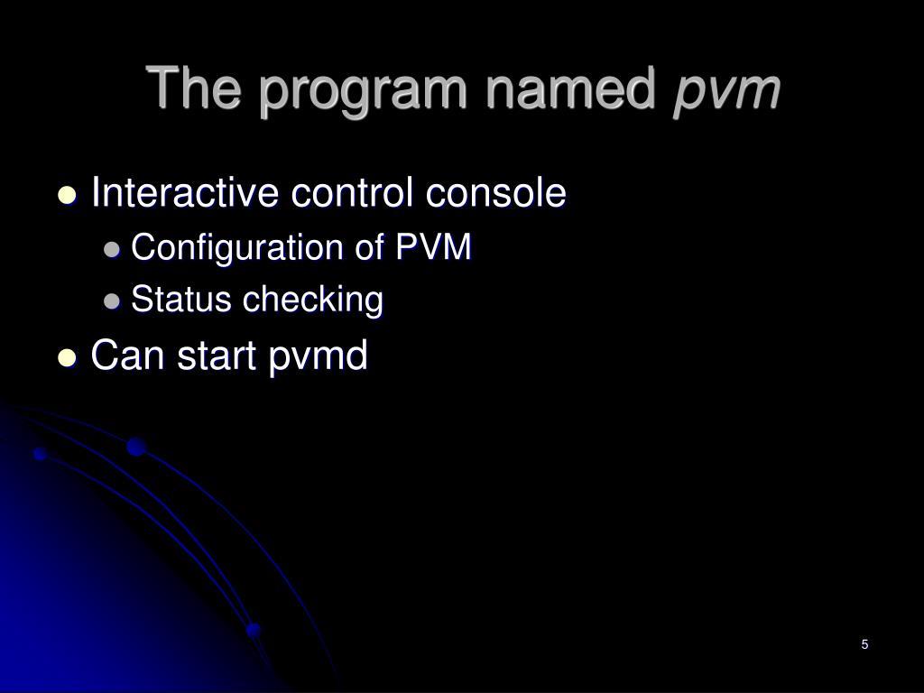 The program named