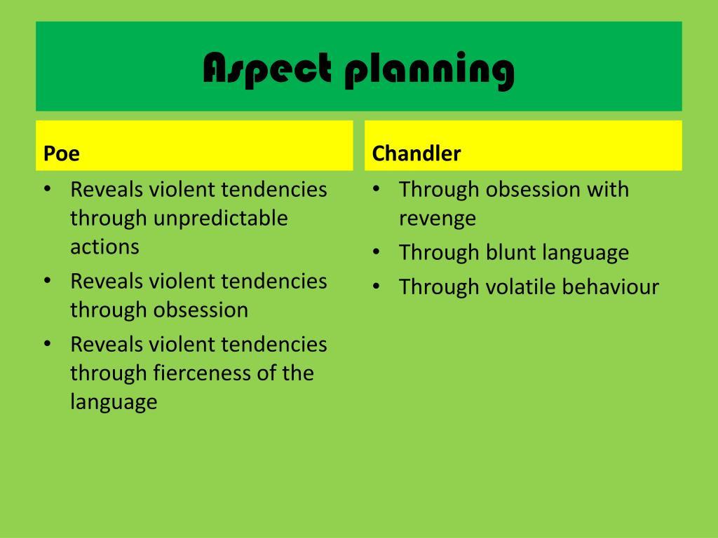 Aspect planning