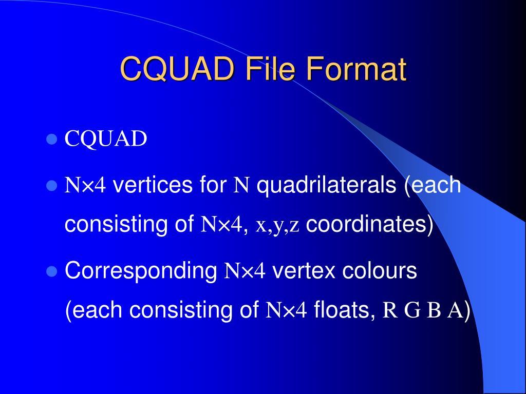 CQUAD File Format