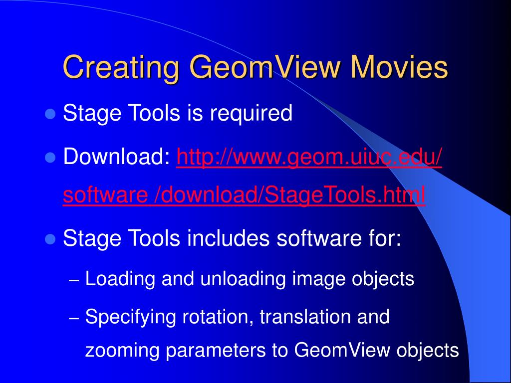 Creating GeomView Movies