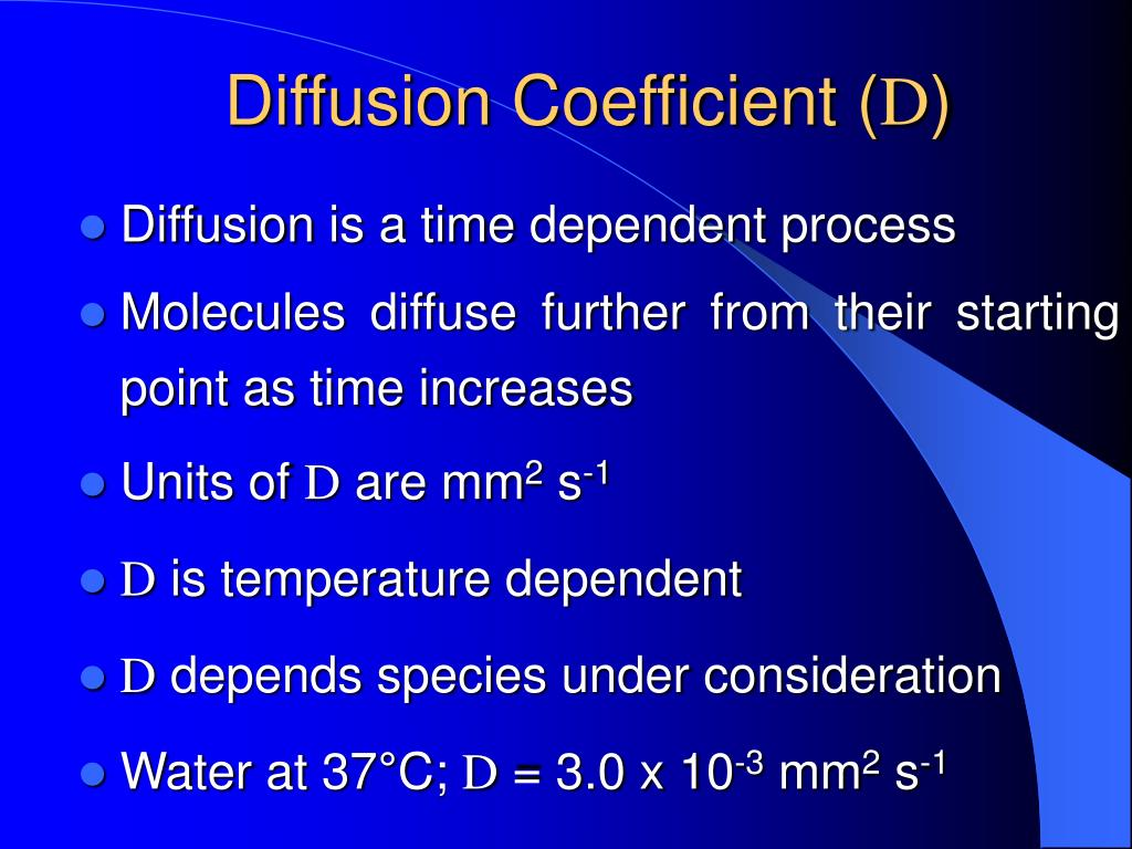 Diffusion Coefficient (