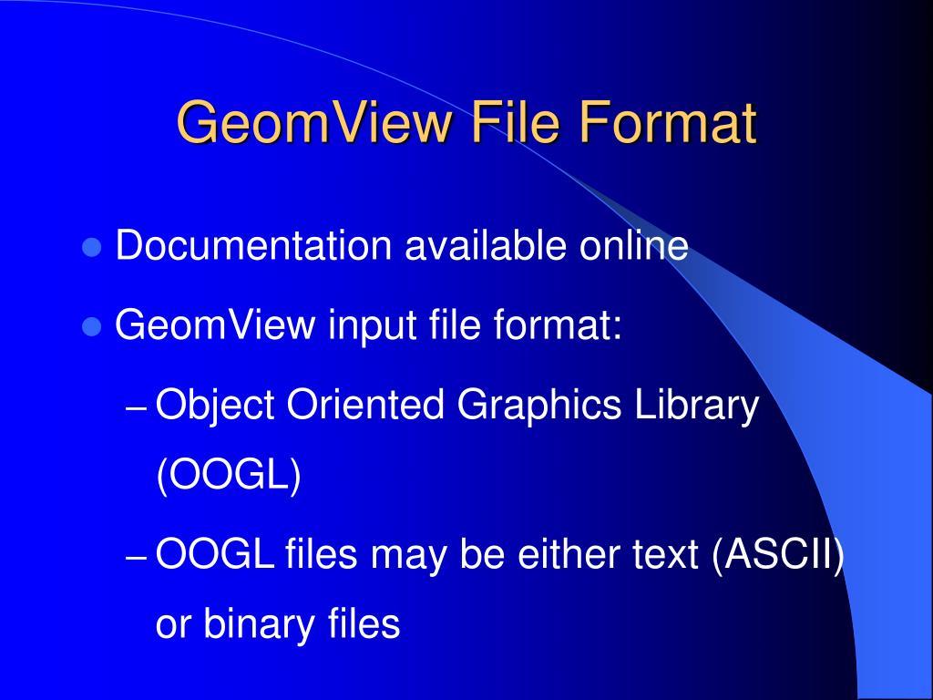 GeomView File Format