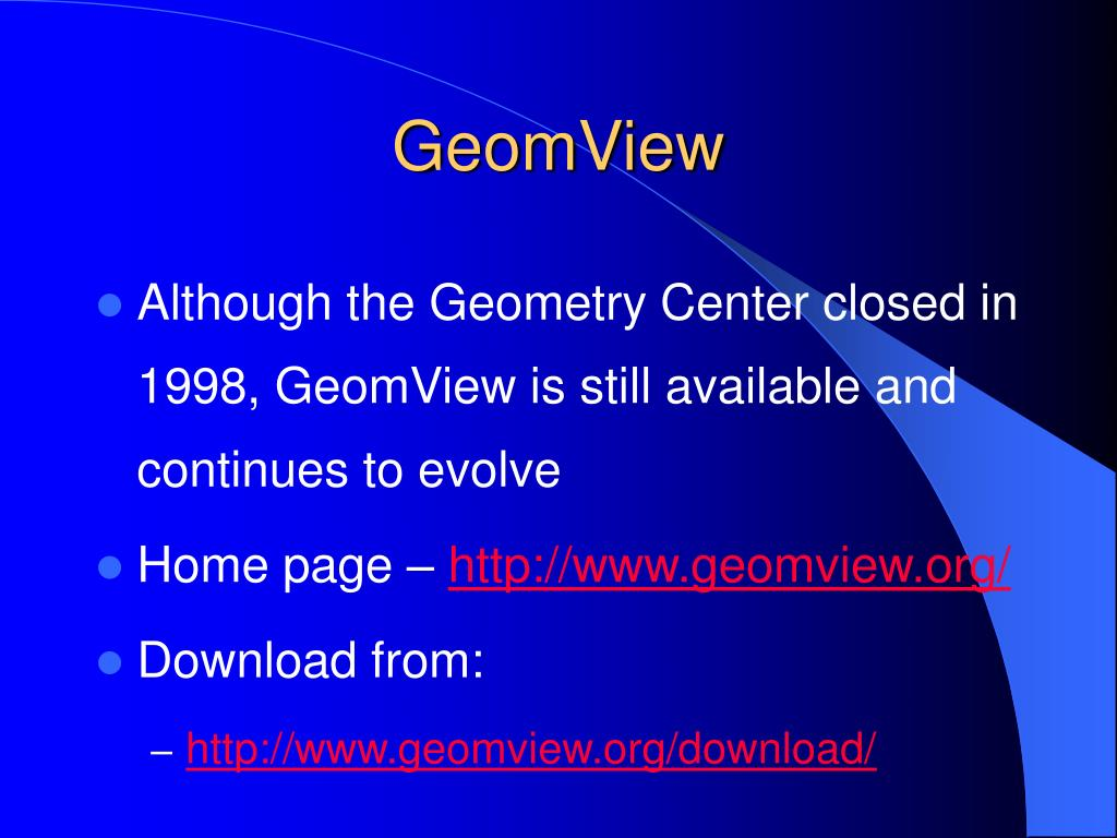 GeomView