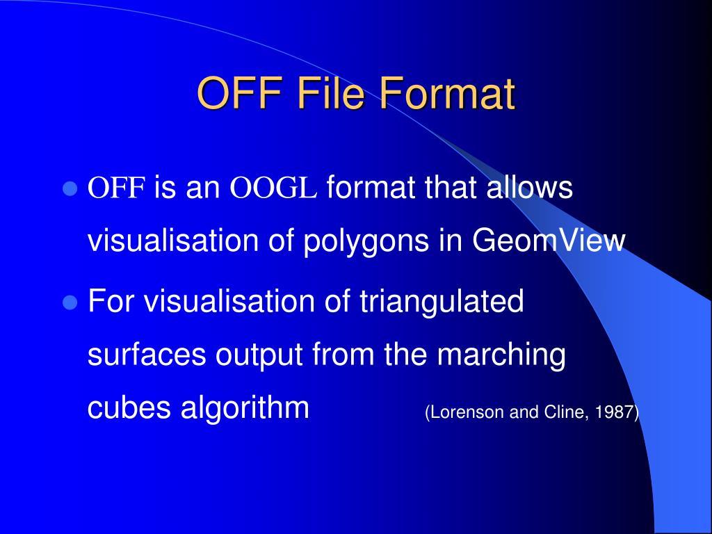 OFF File Format