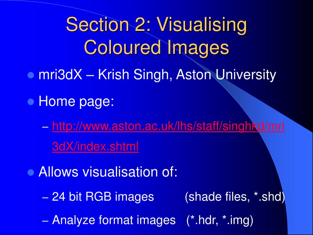 Section 2: Visualising Coloured Images