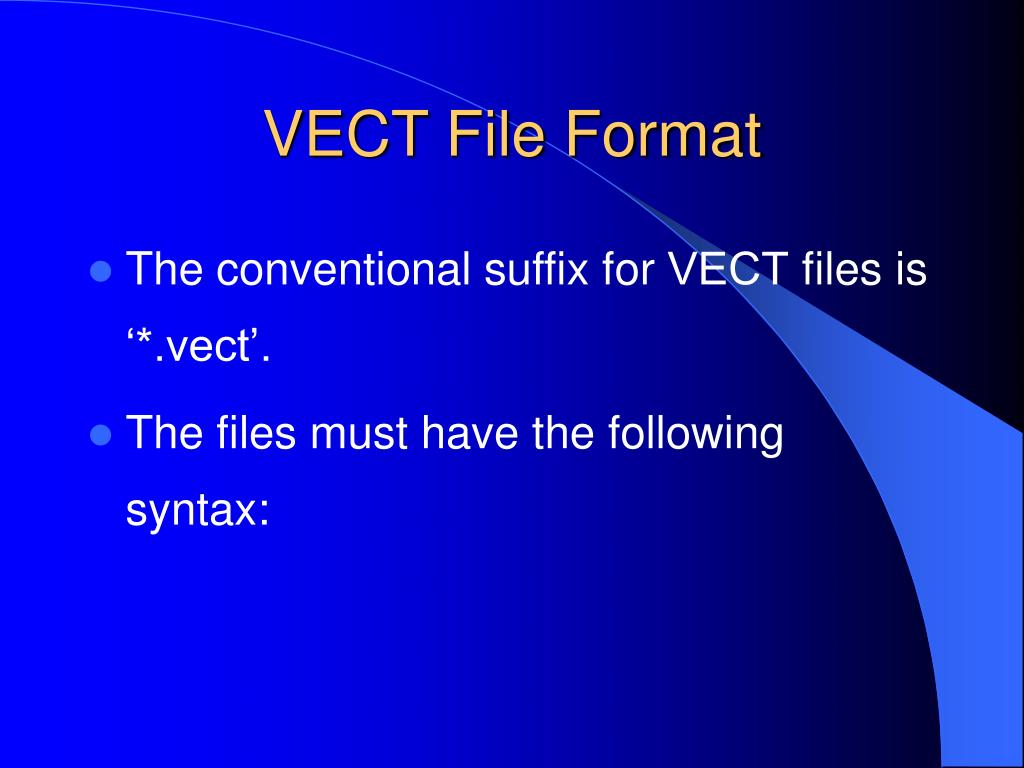 VECT File Format