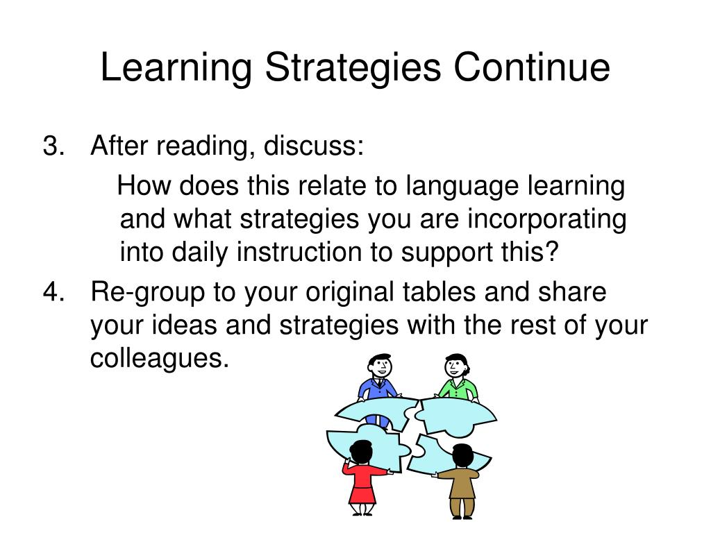 Learning Strategies Continue