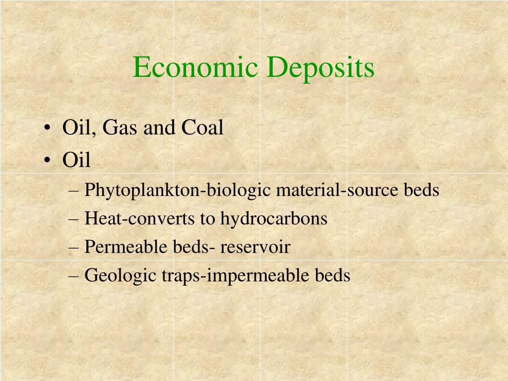 Economic Deposits