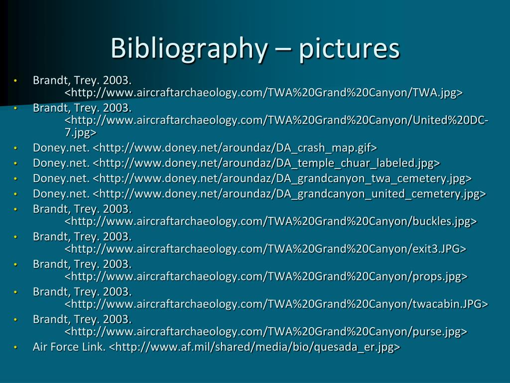 Bibliography – pictures