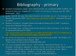 bibliography primary