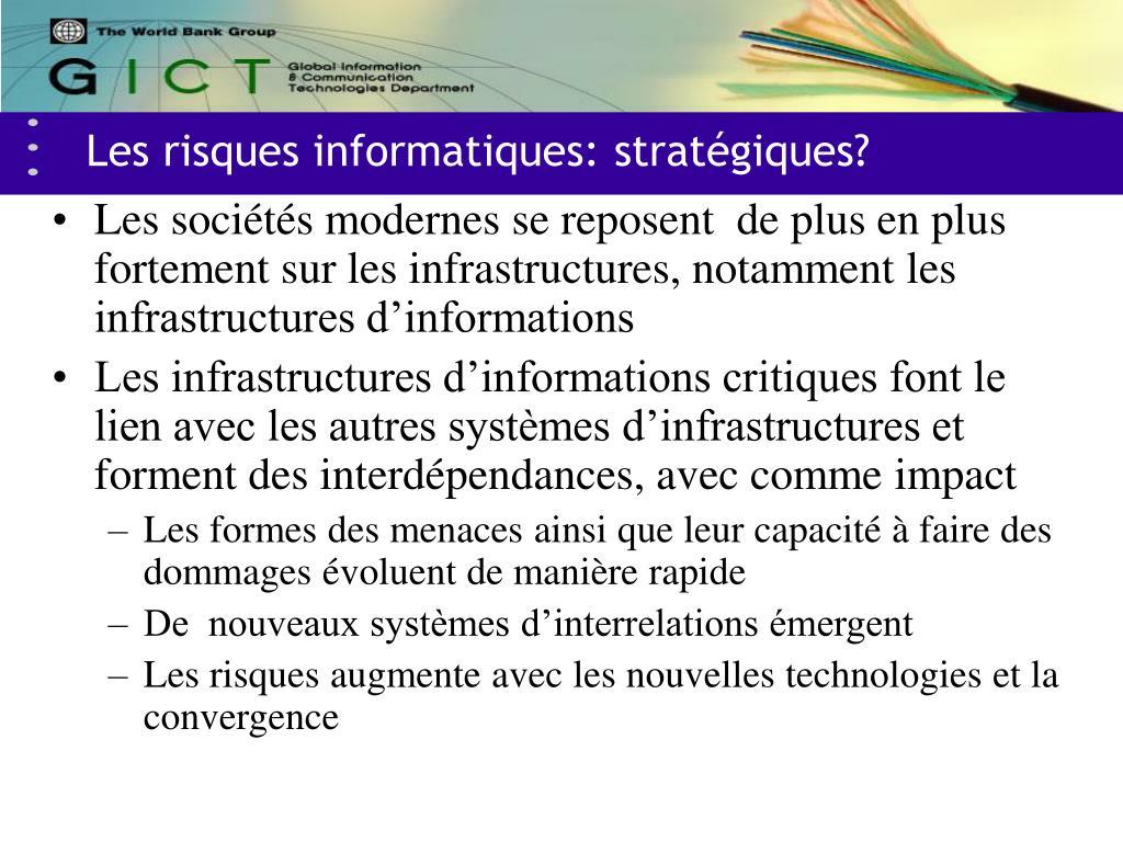 Les risques informatiques: stratégiques?