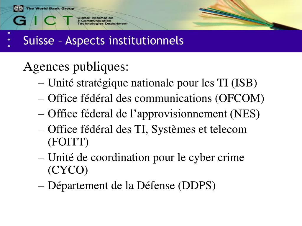 Suisse – Aspects institutionnels