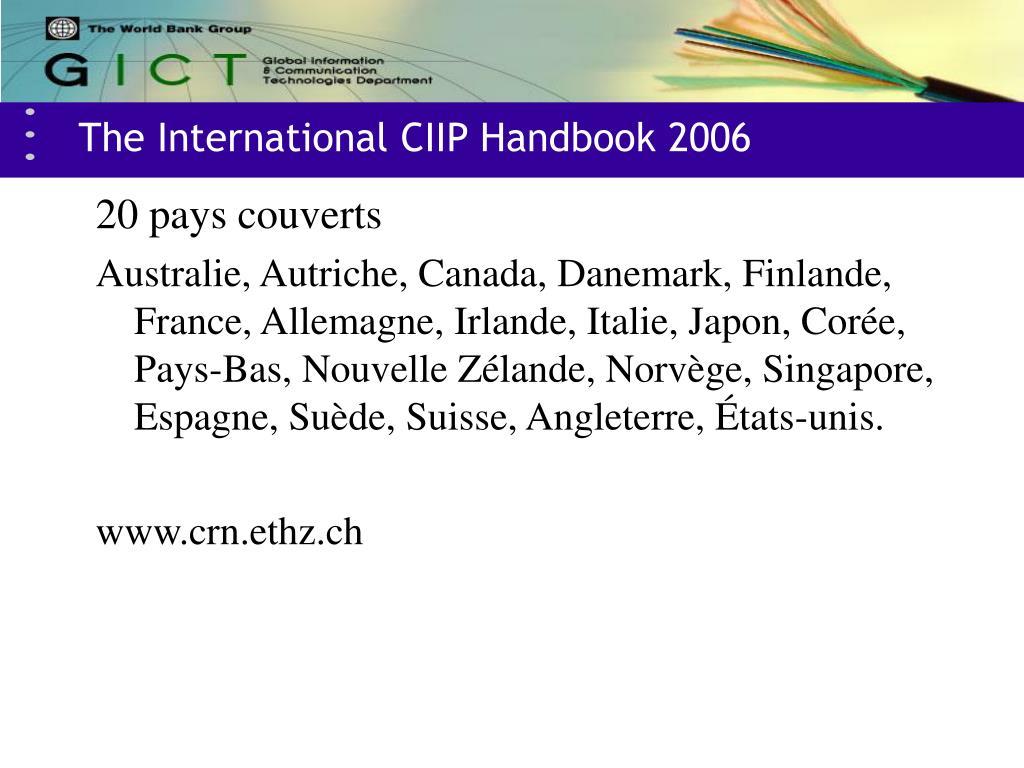 The International CIIP Handbook 2006