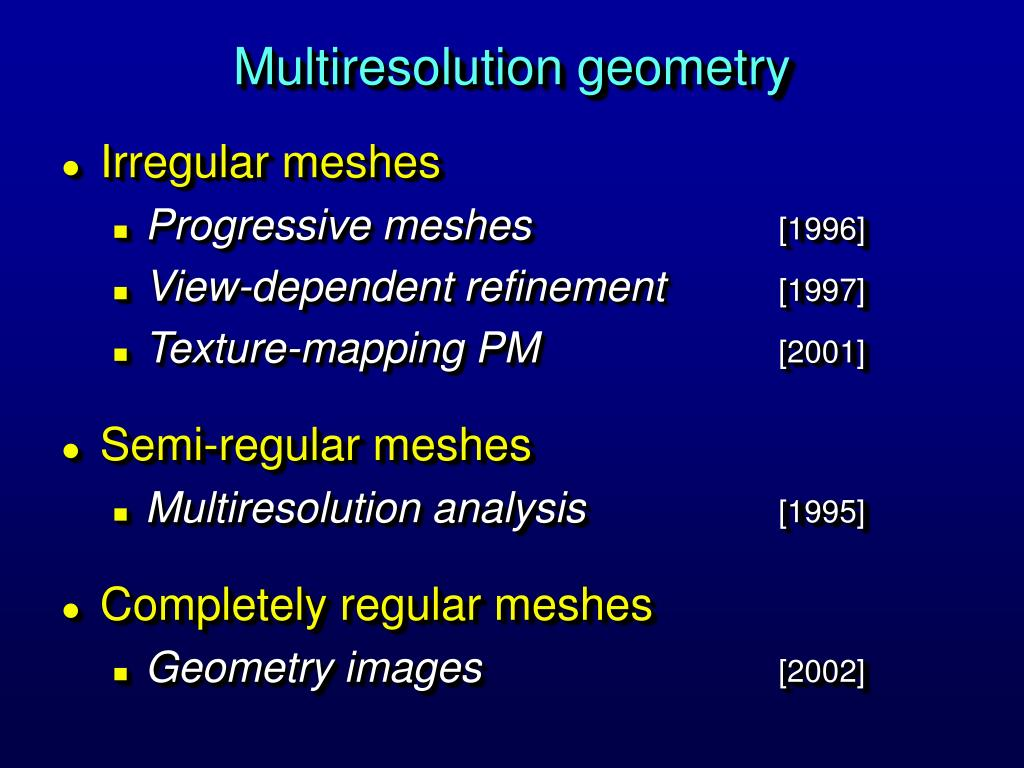 Multiresolution geometry
