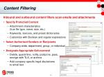 content filtering