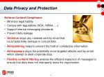 data privacy and protection