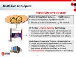 multi tier anti spam