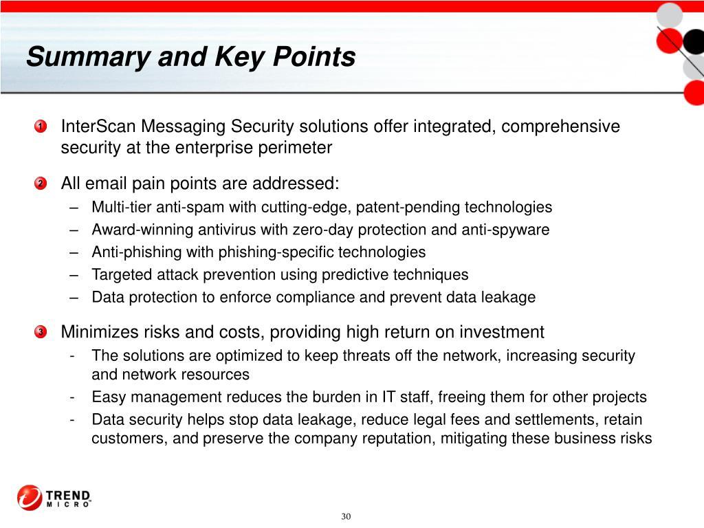 Summary and Key Points