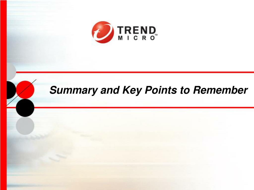 Summary and Key Points to Remember