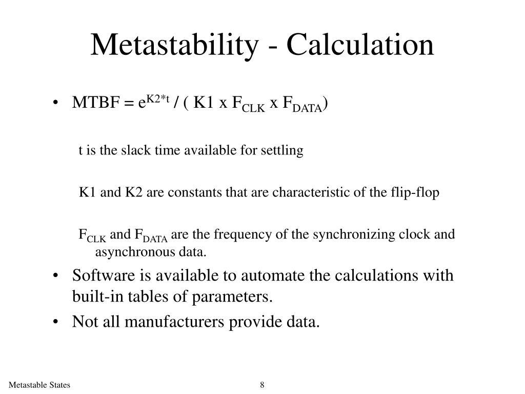 Metastability - Calculation