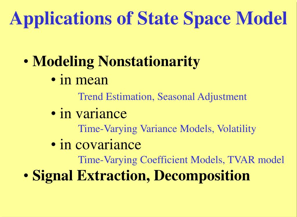 Applications of State Space Model