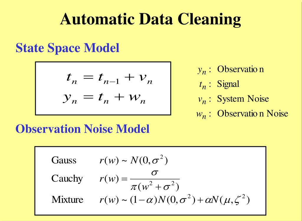 Automatic Data Cleaning