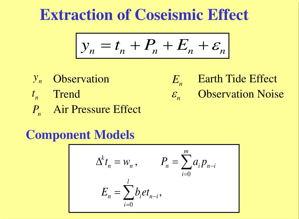 Extraction of Coseismic Effect