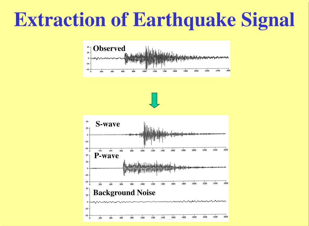 Extraction of Earthquake Signal