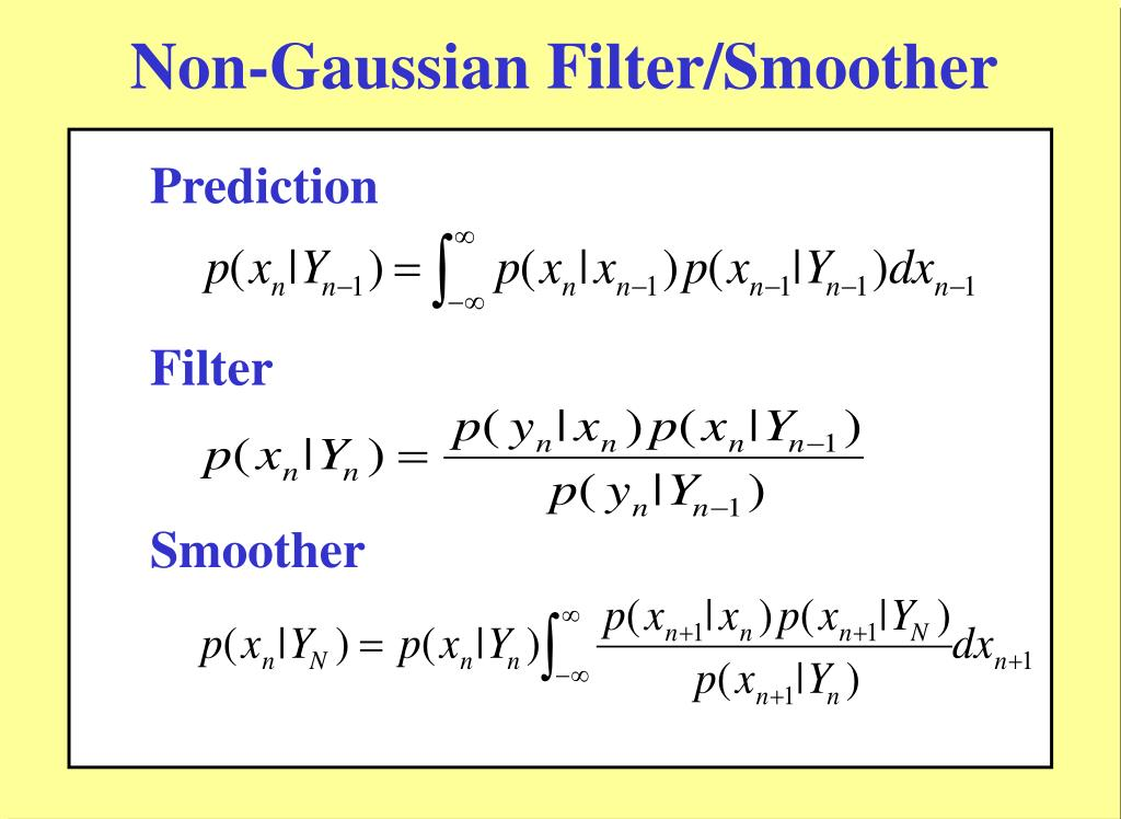 Non-Gaussian Filter/Smoother