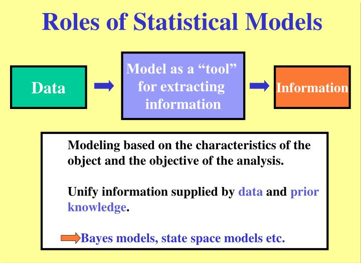 Roles of statistical models