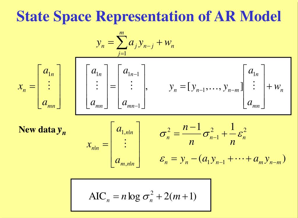 State Space Representation of AR Model