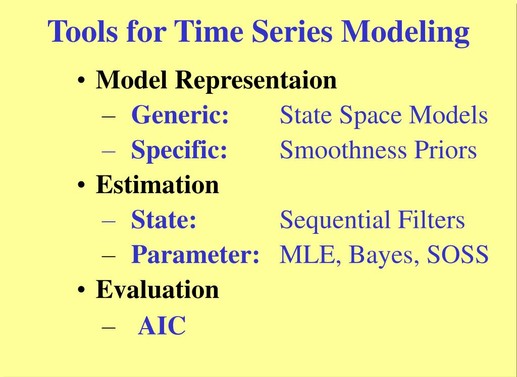 Tools for Time Series Modeling