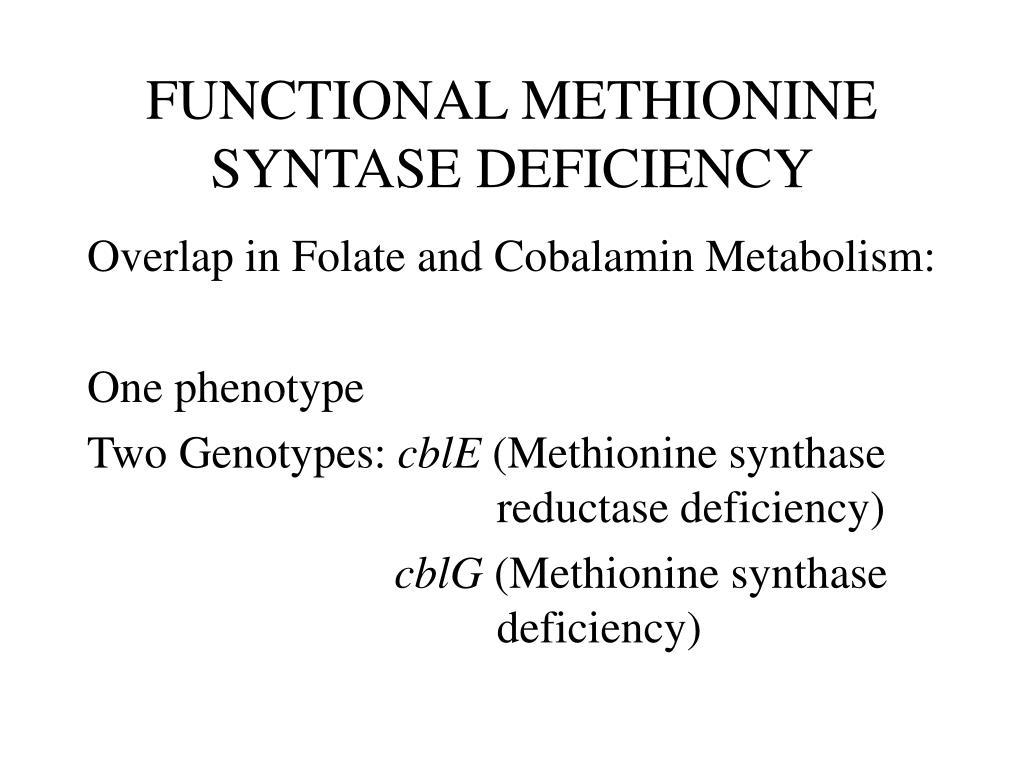 FUNCTIONAL METHIONINE SYNTASE DEFICIENCY