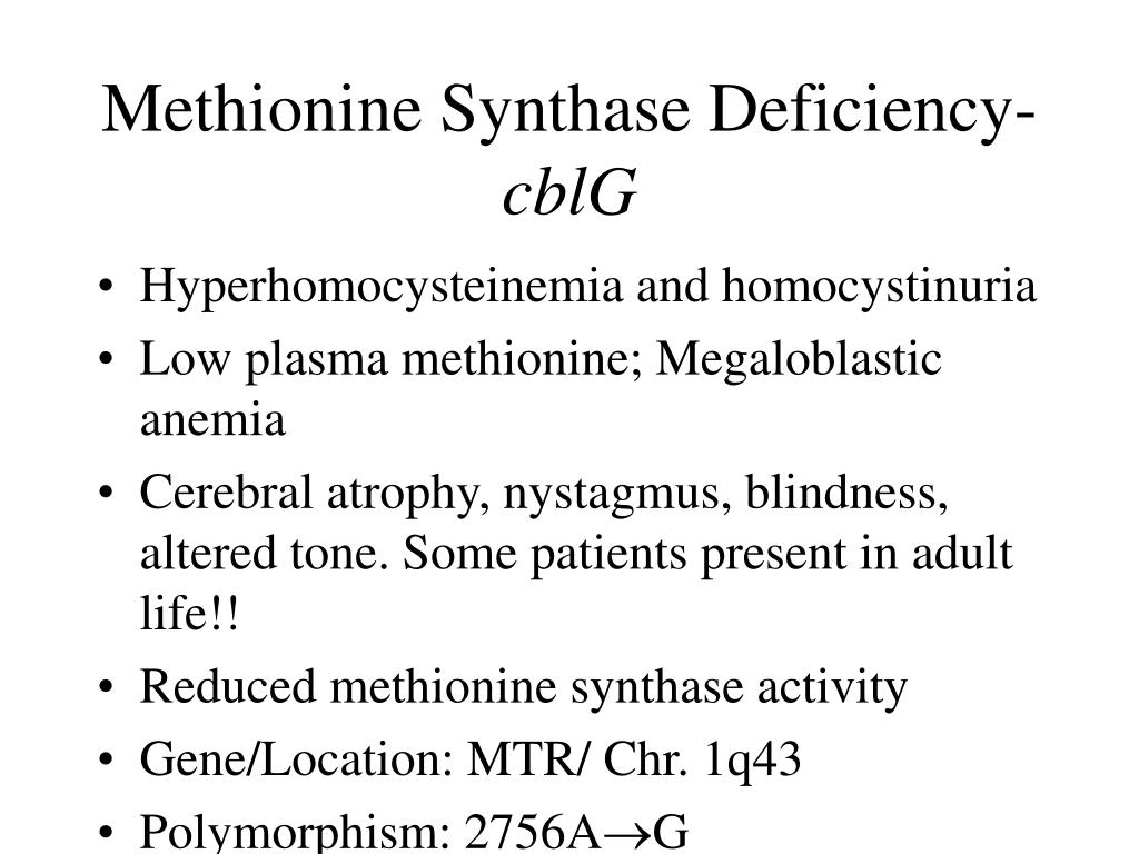 Methionine Synthase Deficiency-