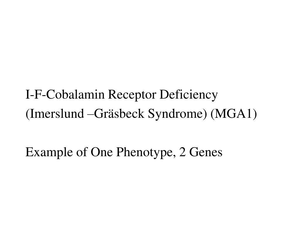 I-F-Cobalamin Receptor Deficiency
