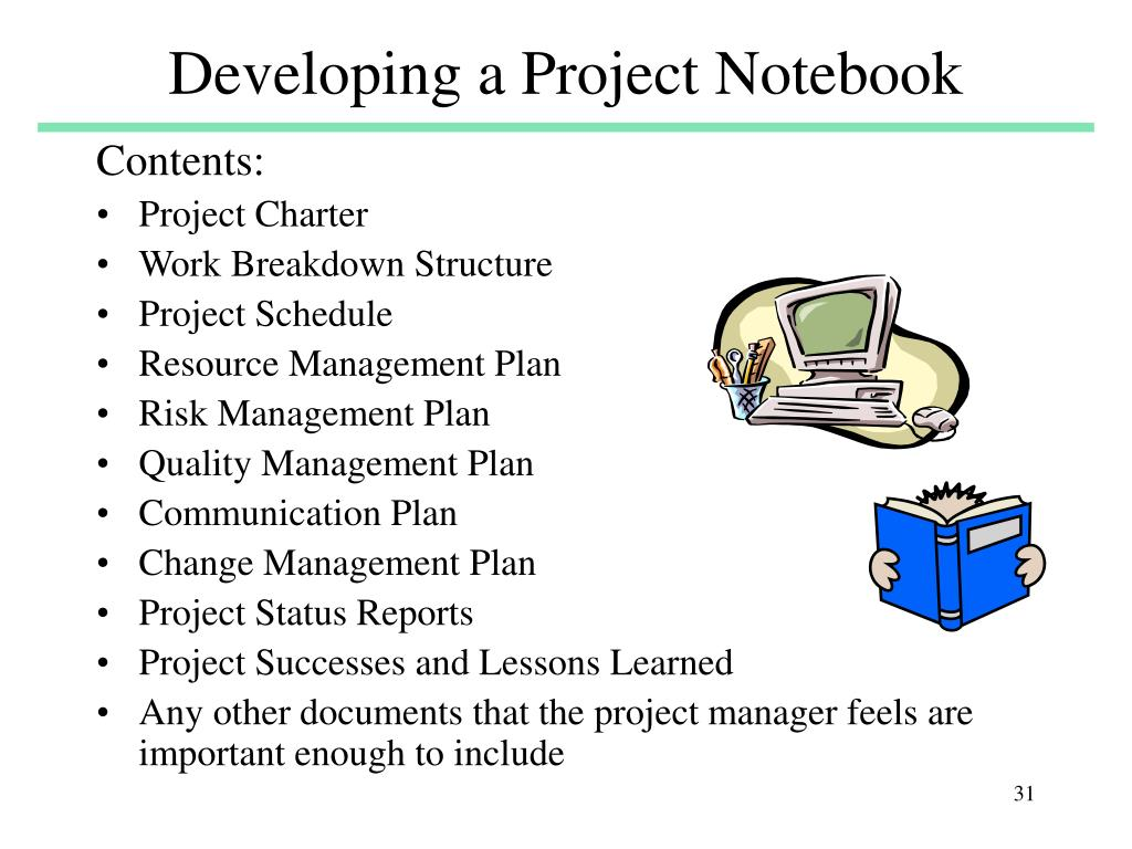 Developing a Project Notebook