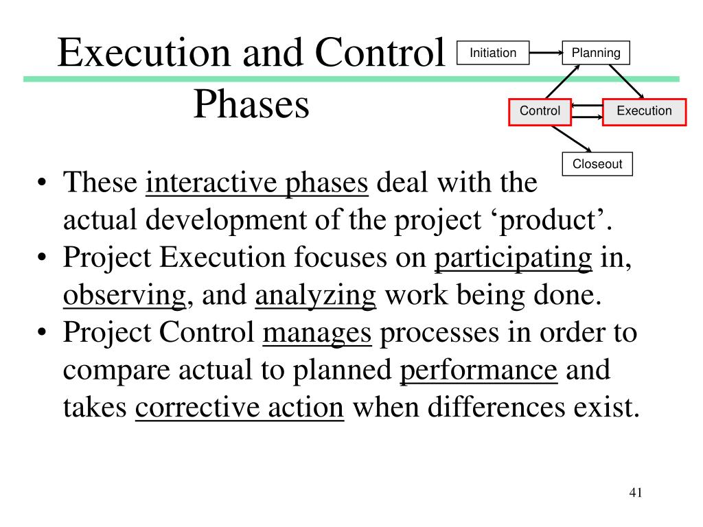 Execution and Control