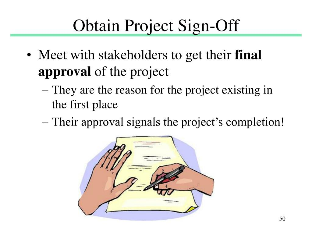 Obtain Project Sign-Off