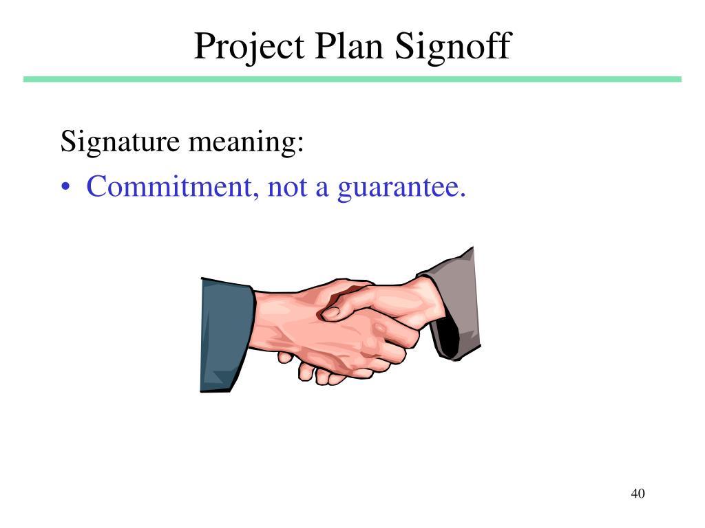 Project Plan Signoff
