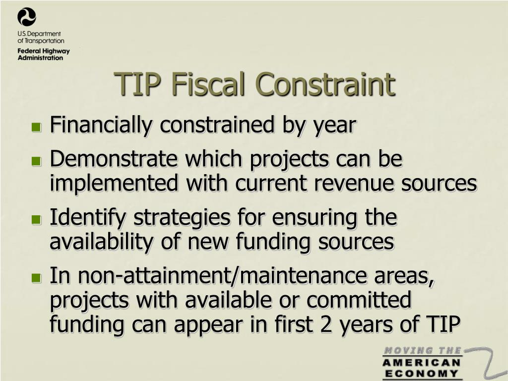 TIP Fiscal Constraint