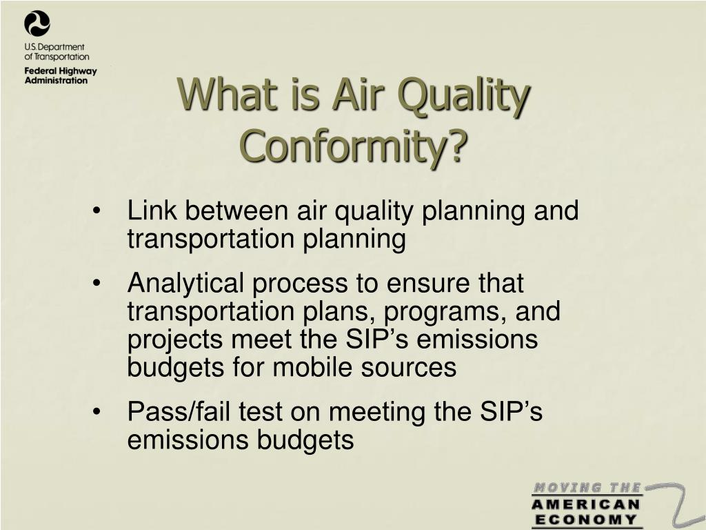 What is Air Quality Conformity?